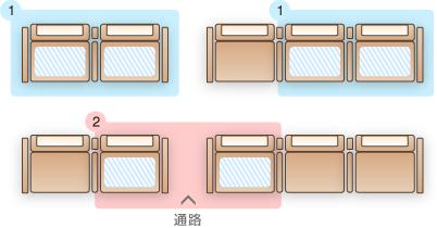 座席指定パターン1
