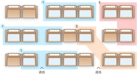 座席指定パターン2