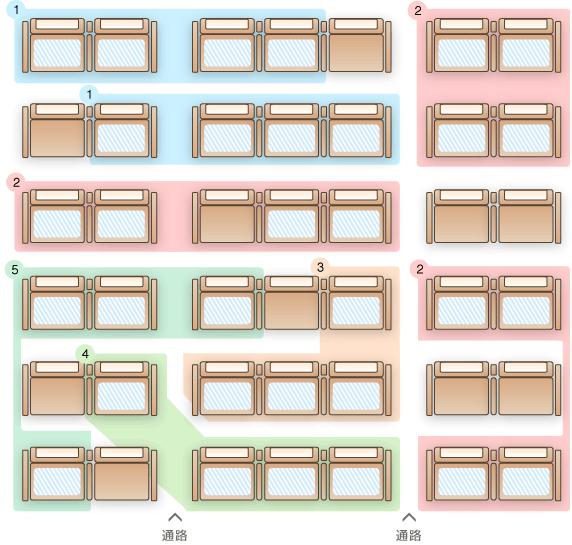 座席指定パターン3